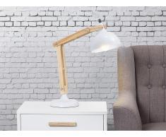 Tischlampe Weiss - Leselampe - Nachttischlampe - Tischleuchte - Beleuchtung - SALADO