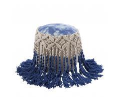 Pouf weiss-blau 45 x 45 cm PATIALA