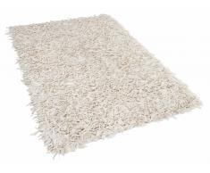 Teppich Beige - Baumwolle - Shaggy - 140x200 cm - KIOS