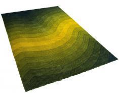 Teppich gelb-grün - 300x400 cm - Shaggy - Polyester - EFEZ