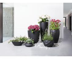 Blumenkübel schwarz rund 60 x 60 x 60 cm OHRIT