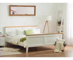 Holzbett weiss Lattenrost 180 x 200 cm OLIVET