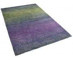 Teppich blau-violett 80 x 150 cm Hochflor SOMA