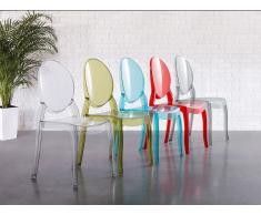 Stuhl Transparent Schwarz - Esszimmerstuhl - Küchenstuhl - Essstuhl - MERTON