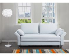 Sofa Hellblau - Schlafsofa - Couch - Bettsofa - Funktionssofa - Klappsofa - EXETER