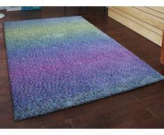 Teppich blau-violett- 200x300 cm - Shaggy - Polyester - SOMA