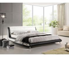 Bett - Lederbett 180x200 cm - Ehebett - Doppelbett inkl. Lattenrost - NIZZA