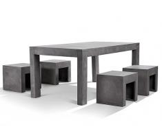 Gartenmöbel Set Beton 4-Sitzer TARANTO