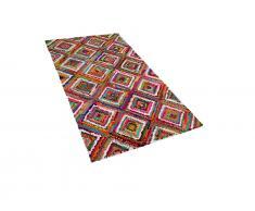 Teppich bunt 80 x 150 cm Hochflor KAISERI