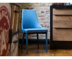 Stuhl Dunkelblau - Sessel - Esszimmerstuhl - Küchenstuhl - Polsterstuhl - CAMINO