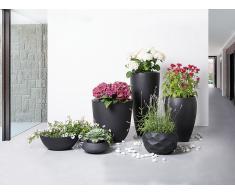 Blumenkübel schwarz rund 47 x 47 x 33 cm MAGGIORE