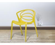 Esszimmerstuhl gelb Kunststoff BEND