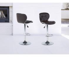 Barhocker Braun - Hocker - Stuhl - Esszimmerstuhl - Küchenstuhl - Sitzhocker - VALETTA