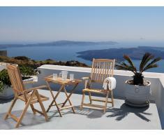 Gartenmöbel - Balkonmöbel - Holzmöbel - Tisch mit 2 Stühlen - RIVIERA