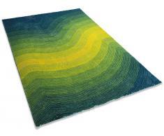 Teppich türkis 300 x 400 cm Hochflor EFEZ