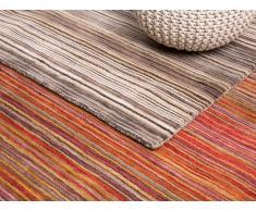 Teppich Orange - 80x150 cm - Wolle - Baumwolle - Läufer - Vorlage - NIKSAR