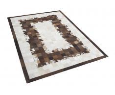 Teppich braun-beige - 140x200 - Lederteppich - Kuhfell - SINOP