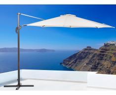 Sonnenschirm Beige – Ampelschirm Rund ø 291 cm – Sonnenschutz – Metall - SAVONA