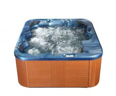 Whirlpool - Badewanne - Spa - Sprudelbad in blau - SANREMO