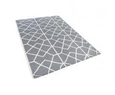 Teppich grau 160 x 230 cm Kurzflor ORTACA