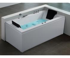 Whirlpool-Badewanne rechts weiss VARADERO
