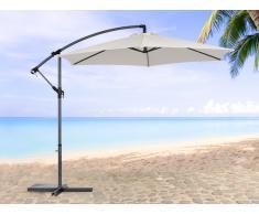 Sonnenschirm Beige – Ampelschirm Rund ø 288 cm – Sonnenschutz – Gartenschirm - METALL