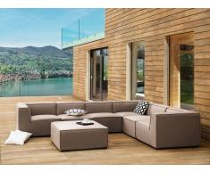 Lounge Set beige 7-Sitzer AREZZO