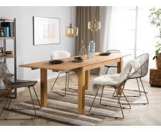 Esstisch aus Eichenholz - Holztisch verlängerbar - Esszimmertisch 180cm in hellbraun - MAXIMA