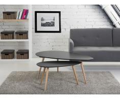 Beistelltisch schwarz - Tisch - zweiteilig - FLY