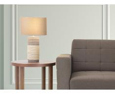 Tischlampe braun - Leselampe - Nachttischlampe - Tischleuchte - Beleuchtung - NAVIA