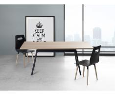 Esstisch schwarz 90 x 180 cm FLOW