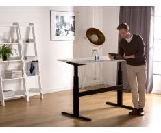 Schreibtisch Weiss-Schwarz 160 x 80 cm elektrisch höhenverstellbar UPLIFT