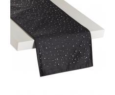 Tischläufer schwarz 35 x 180 cm TORATE