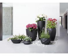 Blumenkübel schwarz rund 46 x 46 x 67 cm NESS