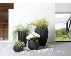 Blumenkübel schwarz rund 33 x 33 x 55 cm ARRESO