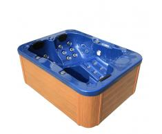 Whirlpool Blau - Pool - Outdoor Spa - Badewanne - Sprudelbad - Massage - Wanne - LAGOON
