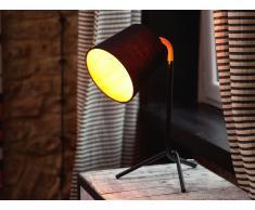 Tischleuchte schwarz 42 cm MOOKI