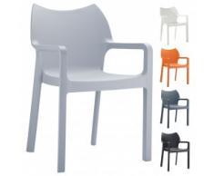 Kunststoffstuhl / Gartenstuhl / Outdoor Stuhl FLORIA AL