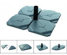 Beschwerungsplatte für Schirmständer / Sonnenschirm BIG FOOT (1 Stück)