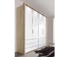 Panorama-Falttürenschrank in 3 Breiten beige, Breite 200cm, »Loft«, mit Schubkästen, WIEMANN