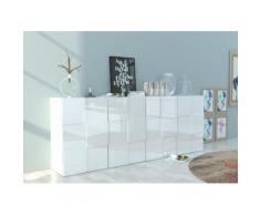 INOSIGN Sideboard in 3D-Optik weiß, Hochglanz-Fronten, FSC®-zertifiziert