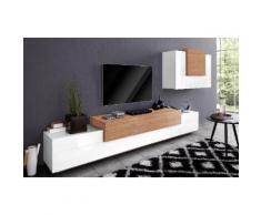 TECNOS Wohnwand »Asia« weiß, Hochglanz-Fronten, FSC®-zertifiziert