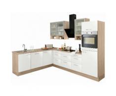 OPTIFIT Winkelküche ohne E-Geräte »Aue« weiß, mit Schubkästen
