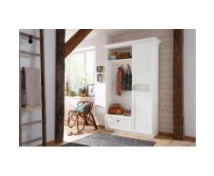 Home affaire Kompaktgarderobe mit dekorativem Glaseinsatz mit Karomuster weiß, »Sonya«, FSC®-zertifiziert