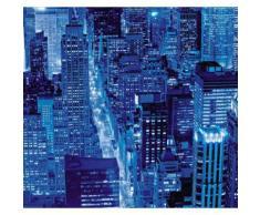 Fototapete bunt, L/B: 250cm / 300cm, »Stadt_bei_Nacht«, pflegeleichte Oberfläche, FSC®-zertifiziert, rasch