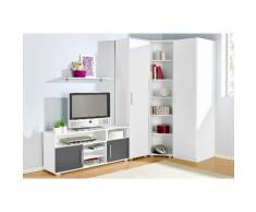 Jugendzimmer-Set grau, mit 1-trg. Kleiderschrank, yourhome