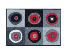 Fußmatte grau, L/B: 75/50cm, 7mm, »Sergej«, fußbodenheizungsgeeignet, strapazierfähig, WASH+DRY BY KLEEN-TEX