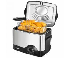 UNOLD Fritteuse Fritteuse Kompakt 58615, 1200 Watt, Fassungsvermögen 1,5 Liter silber