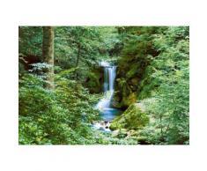 Fototapete 366/254 cm grün, B/H, »Wasserfall im Frühjahr«, yourhome
