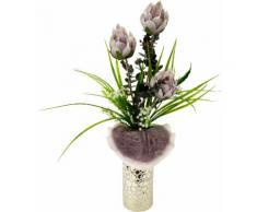 Kunstblume Soft-Protea in Vase rot, yourhome